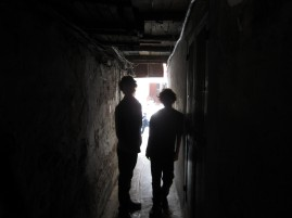 hunter and jack in an alley
