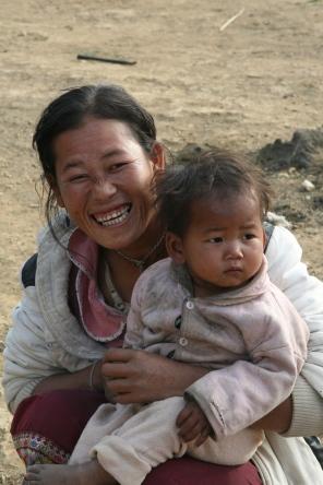madonna and child, tibet