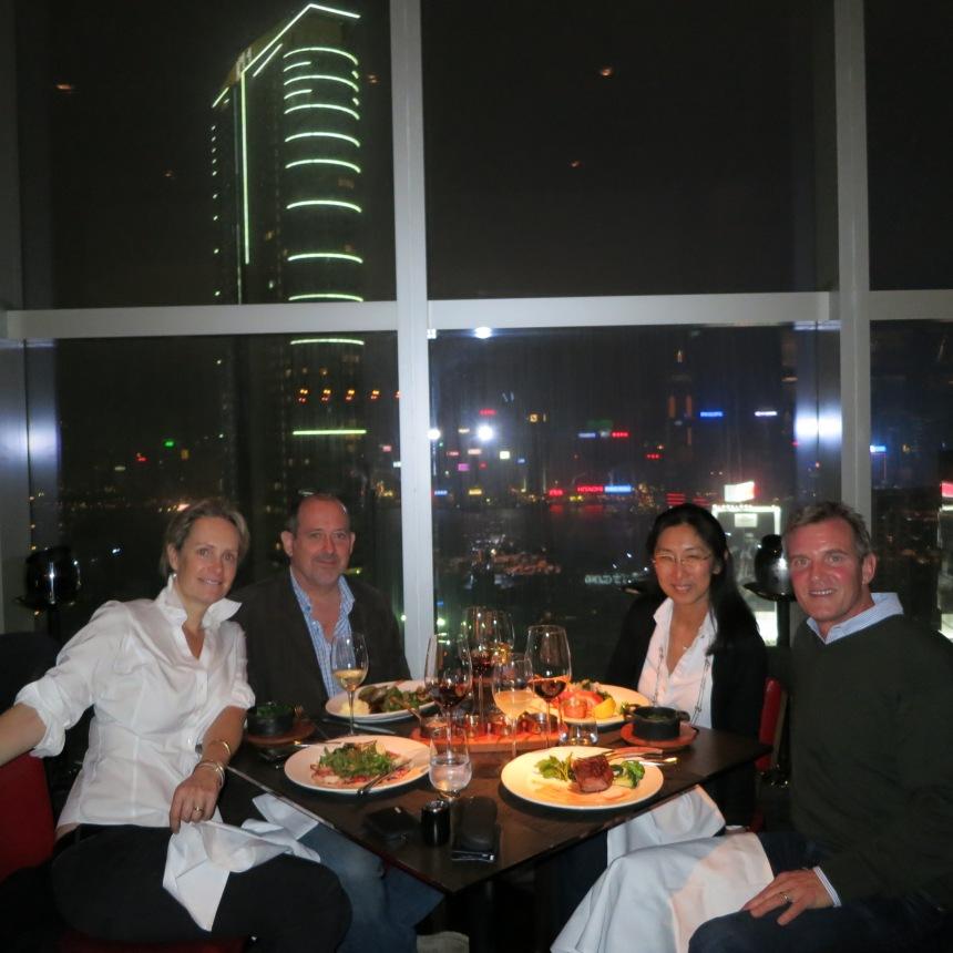 dinner w randy, mayda and chris