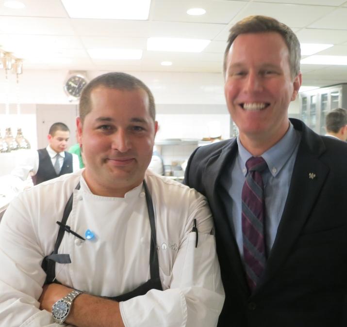 chef de cuisine james kent with maitre d' zach fischer