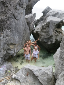 swimming in caves