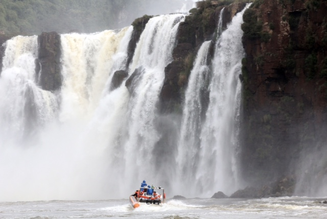 into the falls