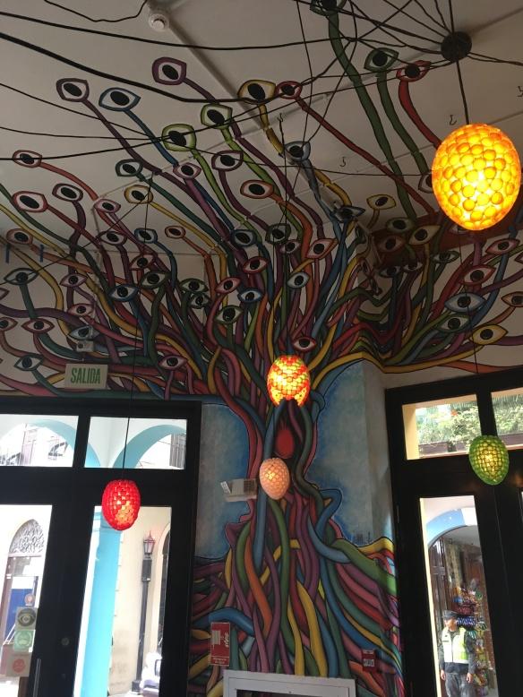 the entrance of tantalo restaurant