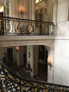 the entrance of the house from the balcony