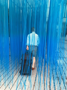 walking through an installation