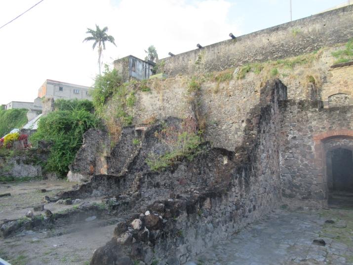 ruins in st pierre