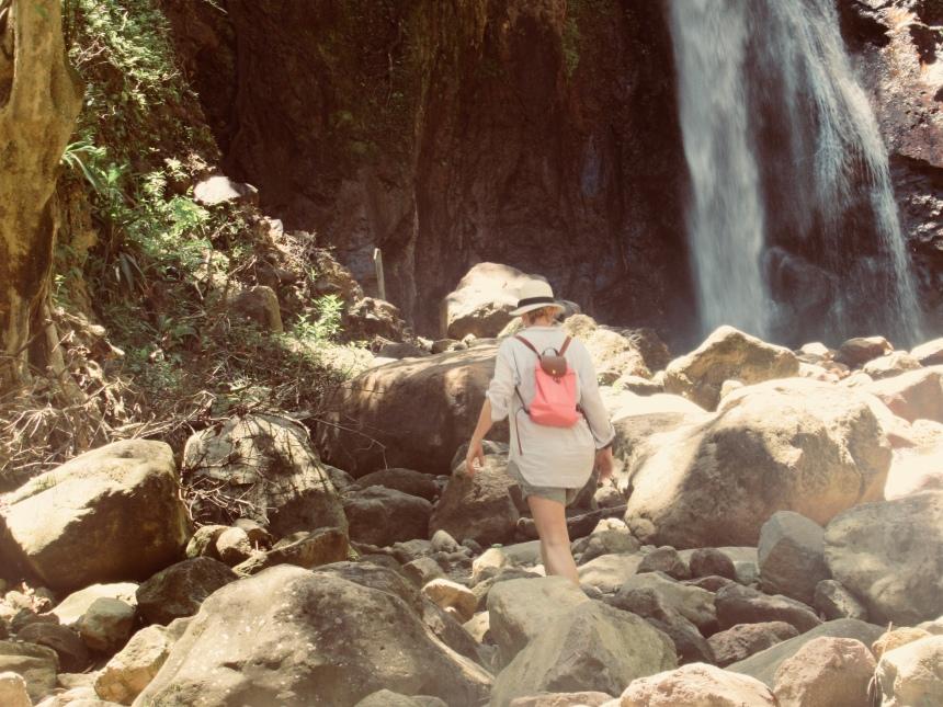 hiking to milton falls