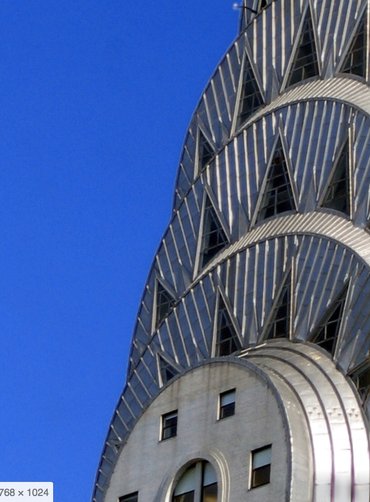 the top of the chrysler building