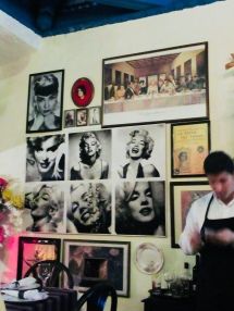 eclectic decor at ivan chefs justo