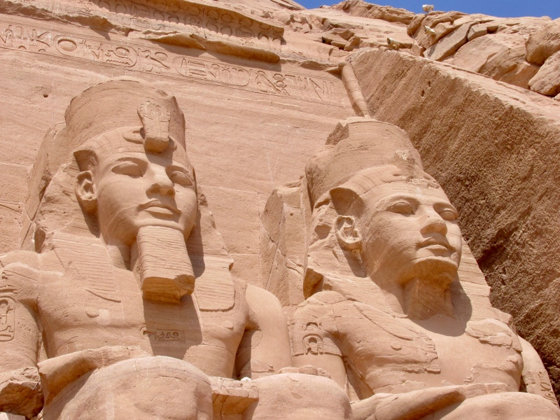 detail of the large temple at abu simbel