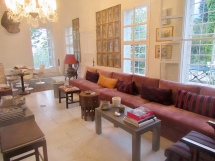 one of the indoor living rooms
