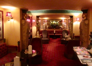 the lobby bar at the Albergo