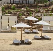 unique soft white sand beach