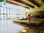sun drenched lobby