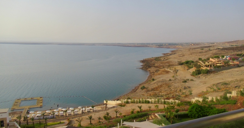 view of the dead sea from my room