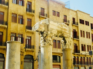 roman ruins in the heart of beirut