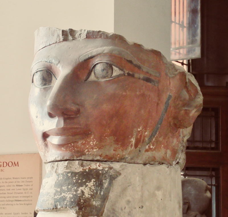 one of magnificent new kingdom statues at the egyptian museum