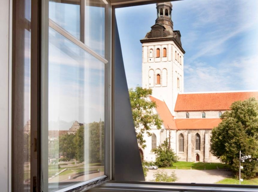 the view from our airbnb in tallinn