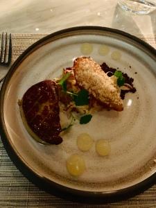fois gras & poached pear