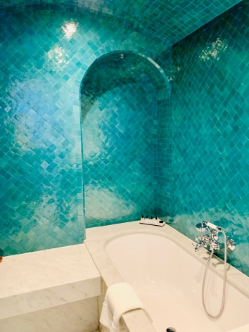 a hammam bathroom in a suite