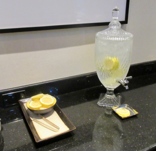 lemon water for guests