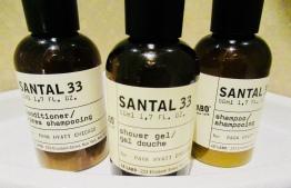 santal 33 amenities