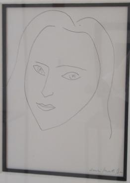portrait of angel, 1945, by henri matisse