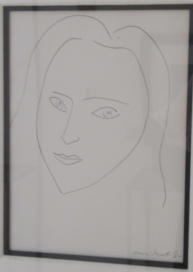 portrait of angel, 1945, by henri matisse