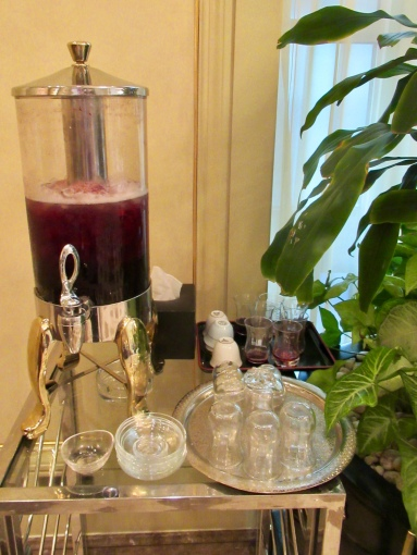 welcome juice always available