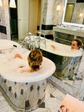 bubbles in the tub