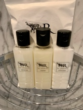 La Reserve has their own bath products