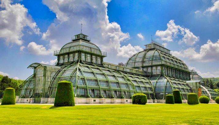 the palmenhaus greenhouse at schonbrunn