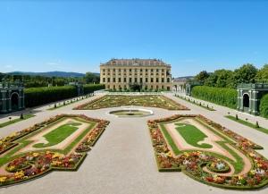 the garden at schönbrunn