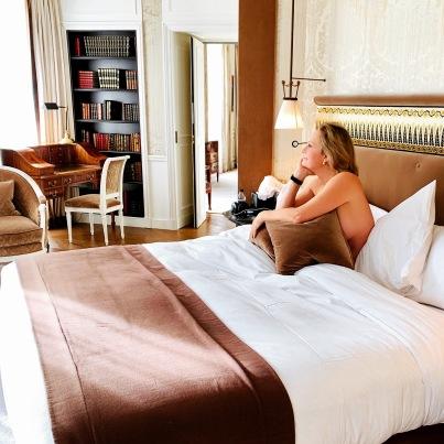 enjoying the luxury of La Reserve, Paris