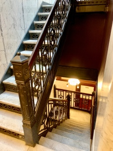 the original staircase at the stayPineapple Chicago
