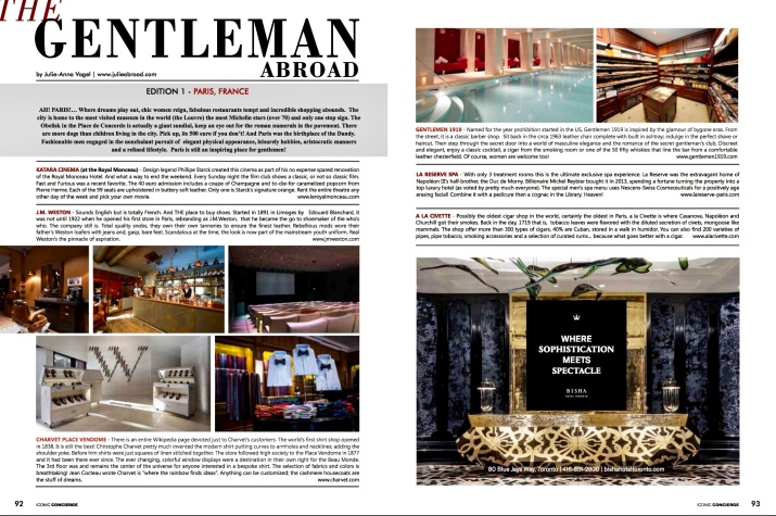 the gentleman abroad in iconic concierge magazine