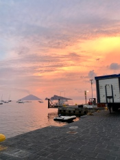 sunset in panarea