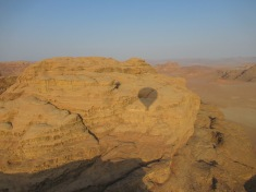 dawn balloon ride over Wadi Rum