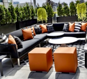 the terrace of the Bisha Suite