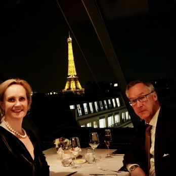 romantic dinner at l'oiseau blanc the peninsula paris