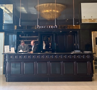 the renowned concierge desk at The Hassler