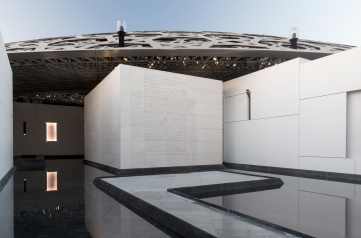 Jenny Holzer. 'For Louvre Abu Dhabi' (2017) © Louvre Abu Dhabi - Photography Marc Domage, image courtesy of Dept of culture & tourism, Abu Dhabi