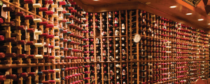 the wine cellar at The Post Hotel