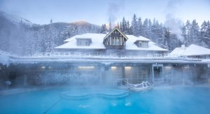 Winter Banff Upper Hot Springs by Noel Hendrickson, courtesy Banff Lake Louise Tourism
