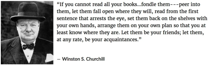 churchill on books