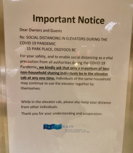 elevator rules at the Watermark